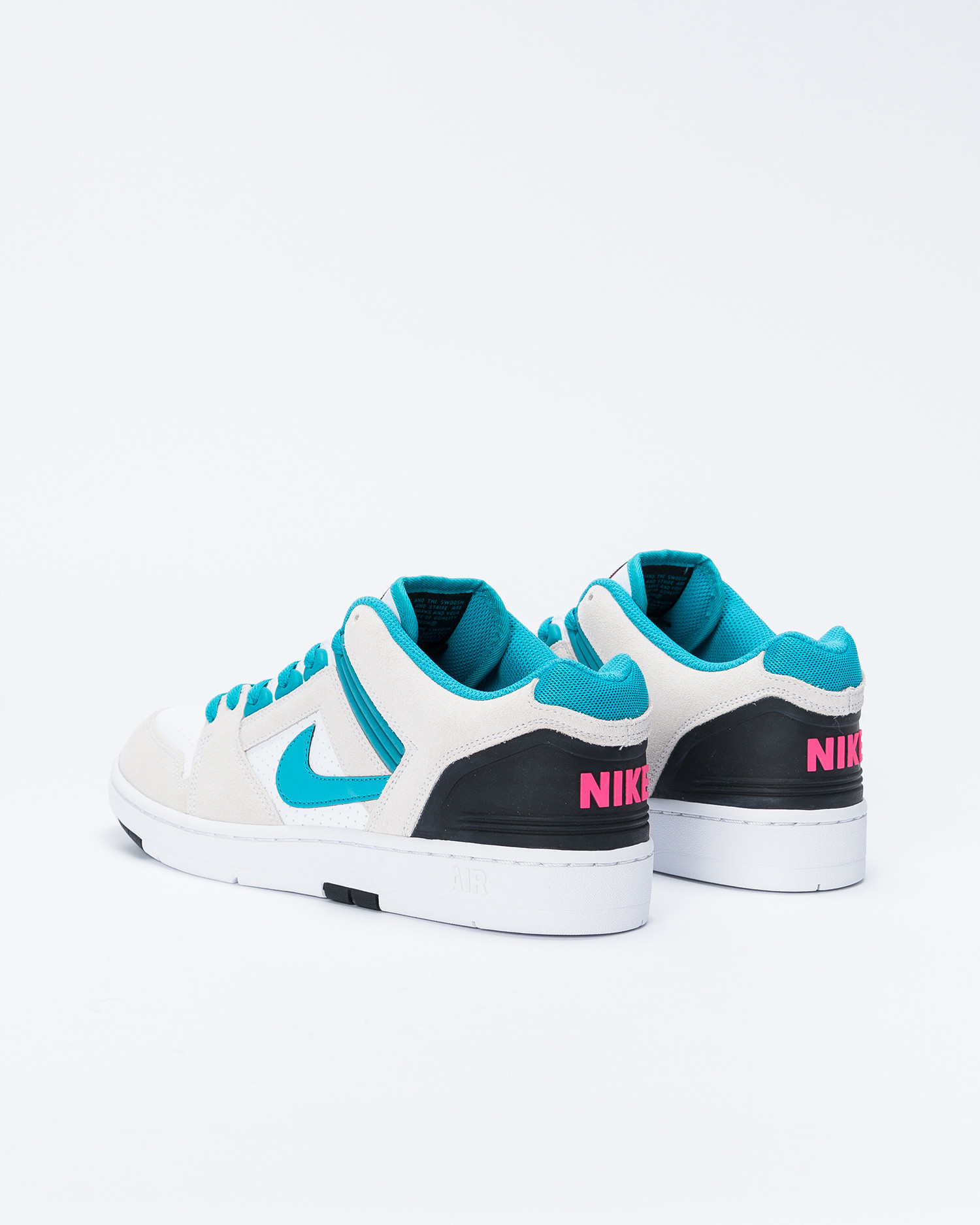Nike SB Air Force II White/Teal Nebula/Black/Pink flash