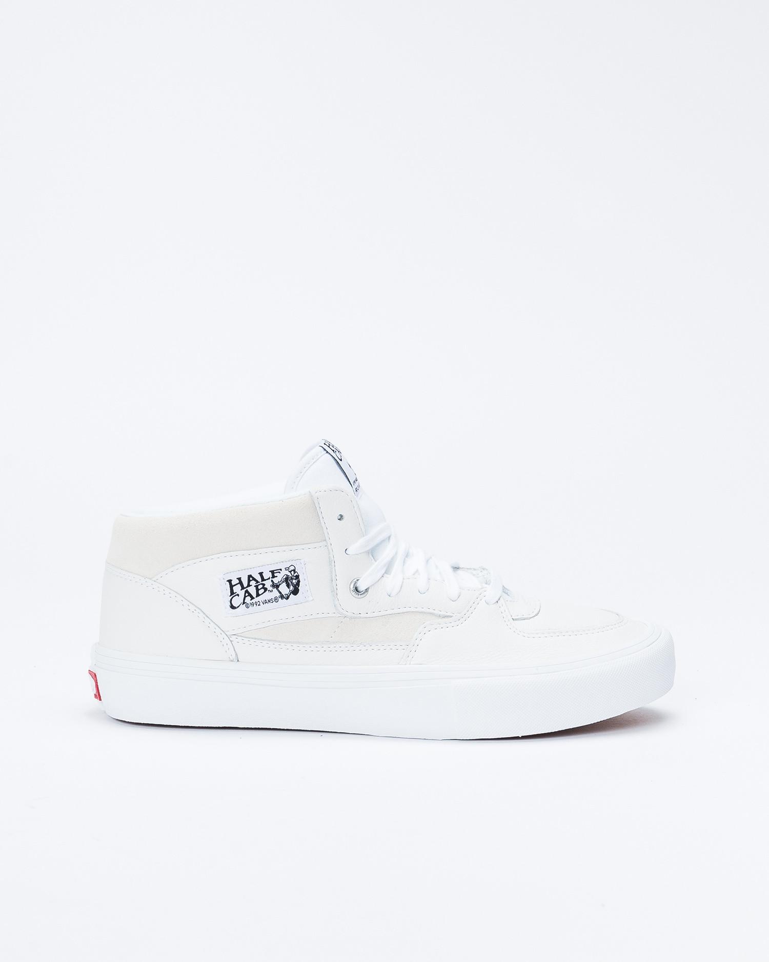 Vans Half Cab Pro (Leather) White