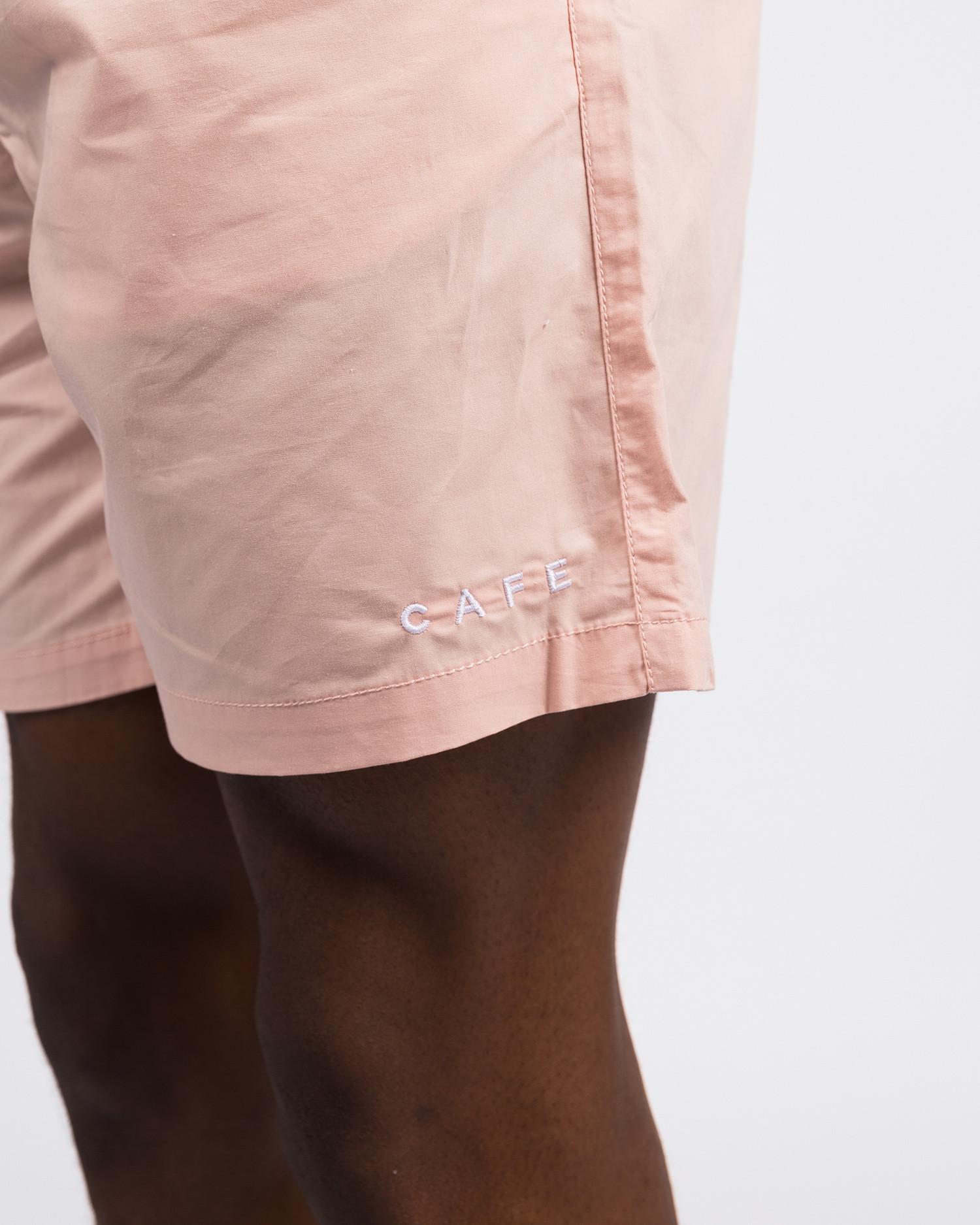 Skateboard Café Embroidered Shorts Pink