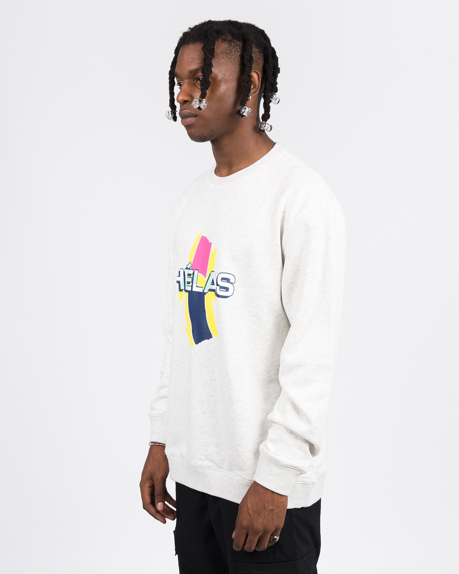 Helas REAR CREWNECK HEATHER GREY