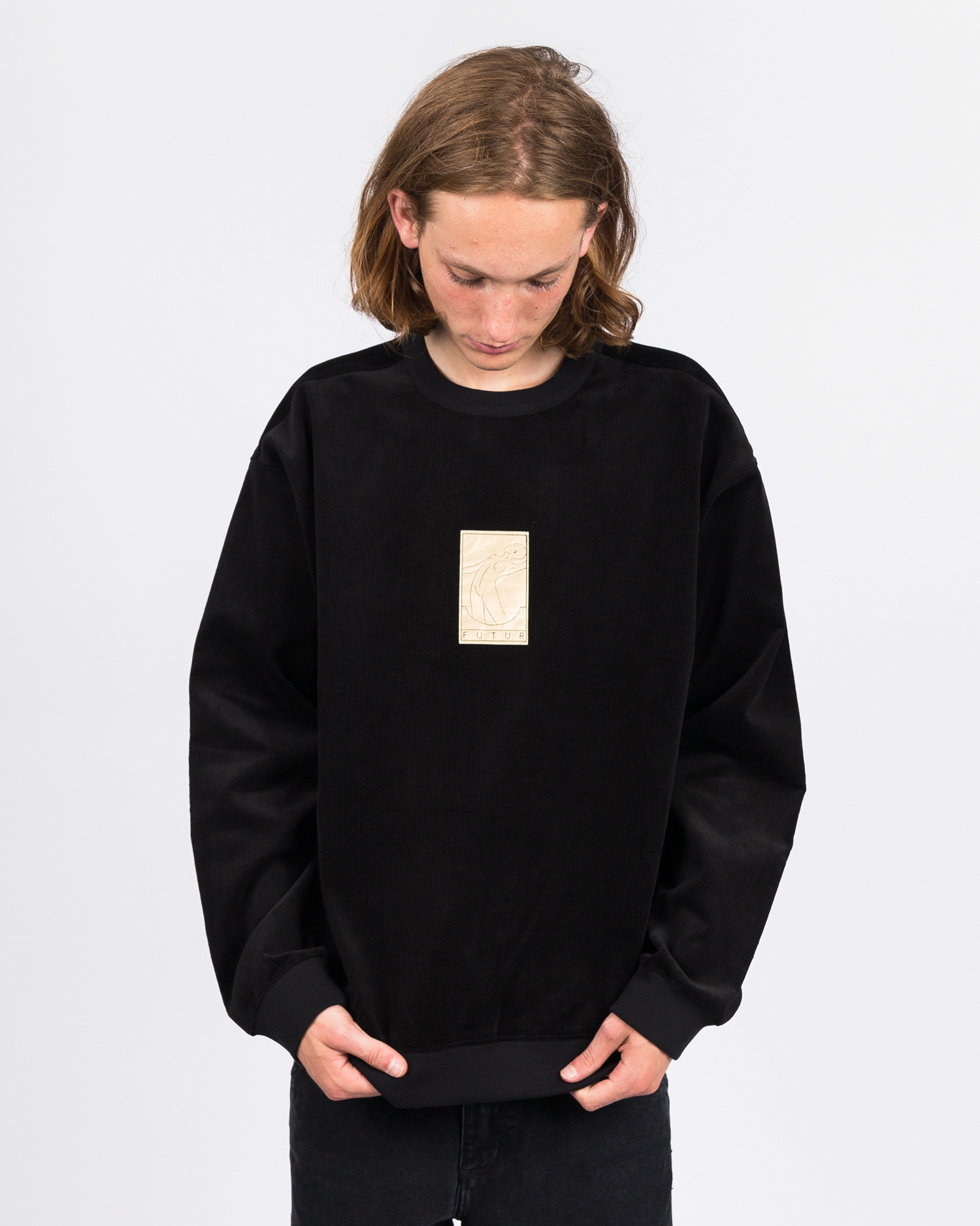 Futur 01 Gold Cord G Fit Crew Black