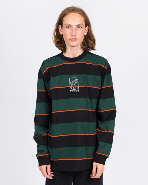 Futur Futur G Fit Striped Longsleeve Forest Green