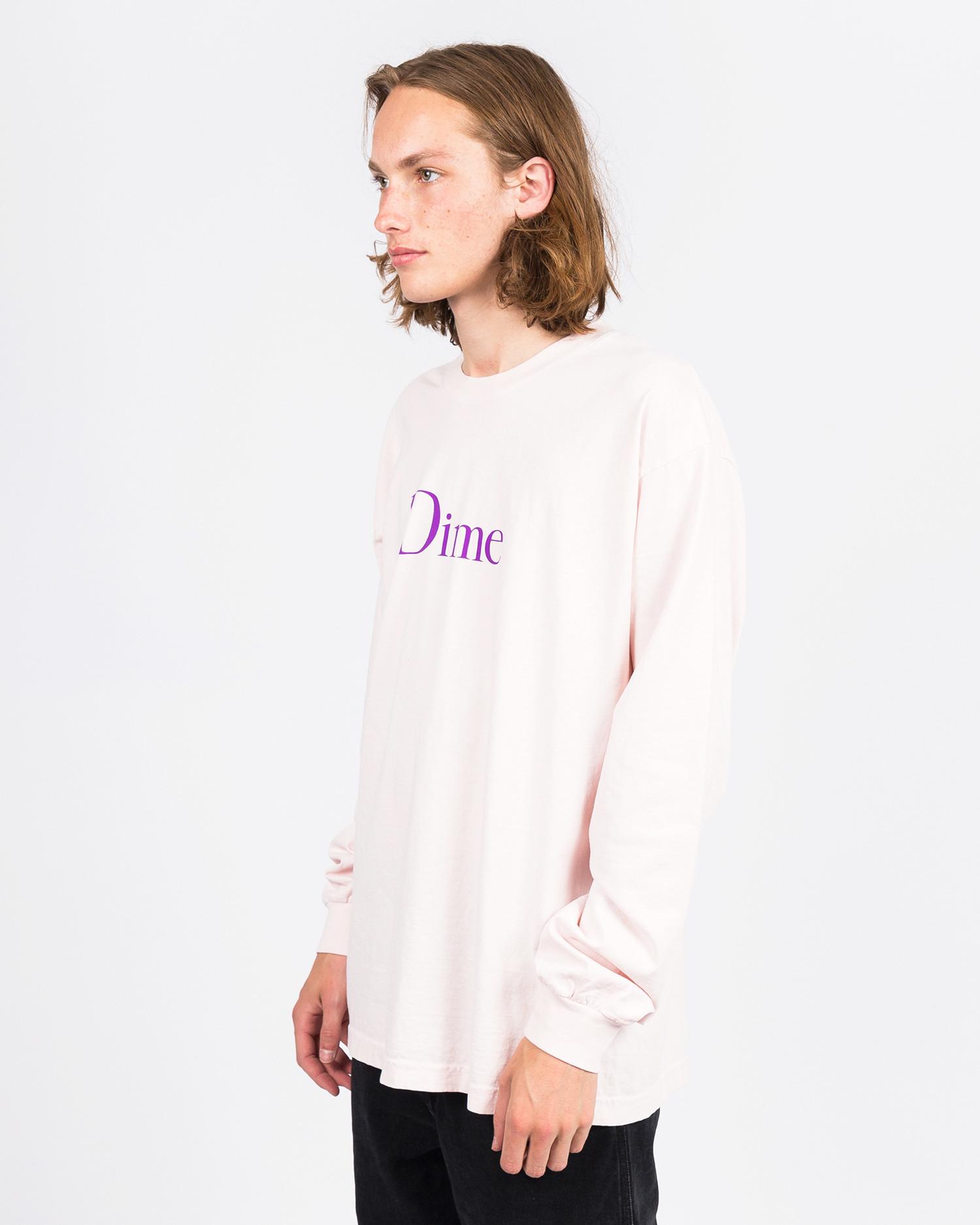 Dime Classic Logo Longsleeve T-shirt Light Pink