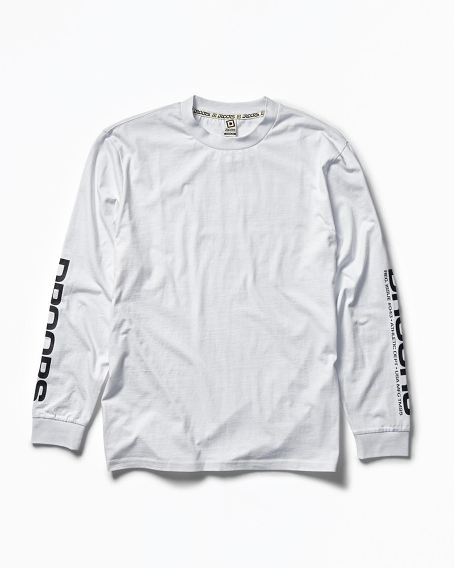 DROORS No. 42 Longsleeve T-Shirt White