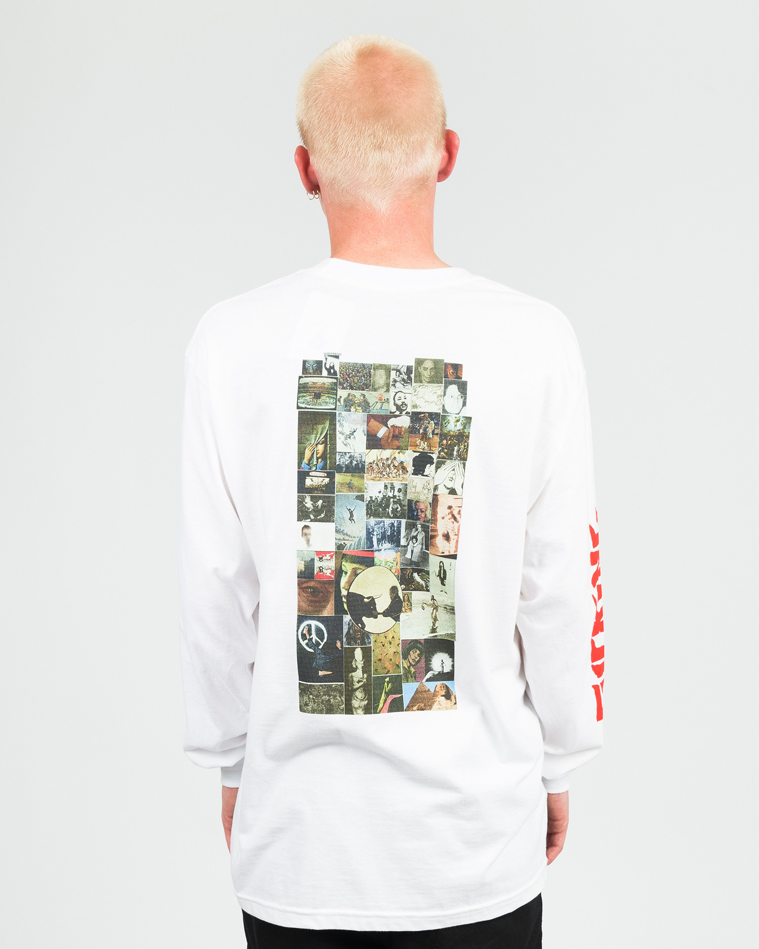 Fucking Awesome Collage Longsleeve Tee White