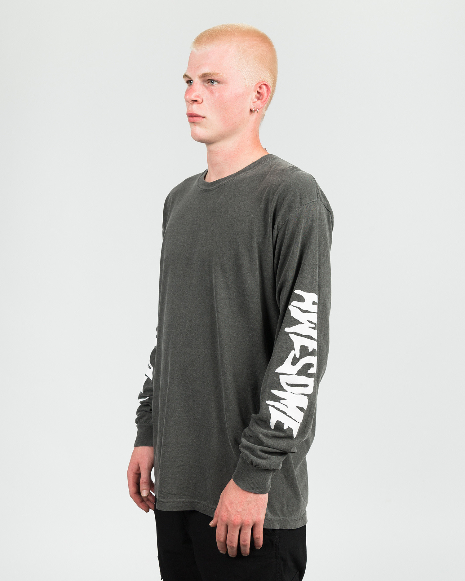 Fucking Awesome Collage Longsleeve Tee pigment Dyed Pepper