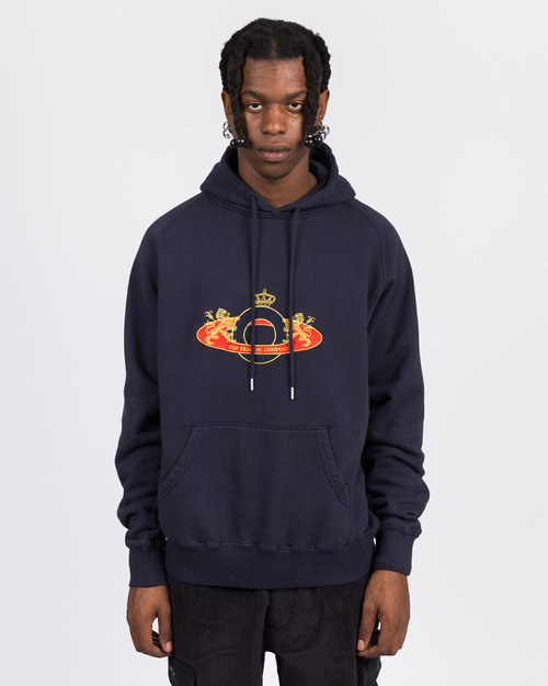 Pop Trading Co Pop Trading Co royal 'O' hoodie navy