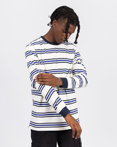 Pop Trading Co Pop Trading Co harold stripe longsleevet-shirt off white/grape