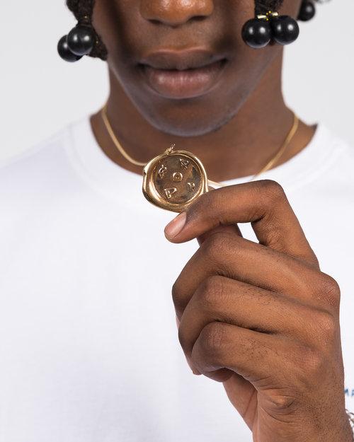 Pop Trading Co Pop Trading Co X parra bronze pendant