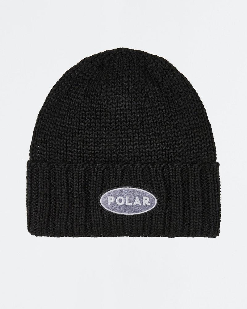 Polar Polar Patch Beanie Black