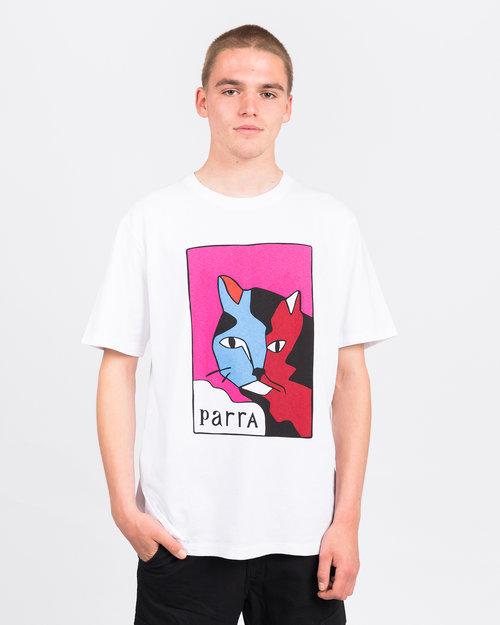 Parra Parra Earl The Cat T-Shirt White