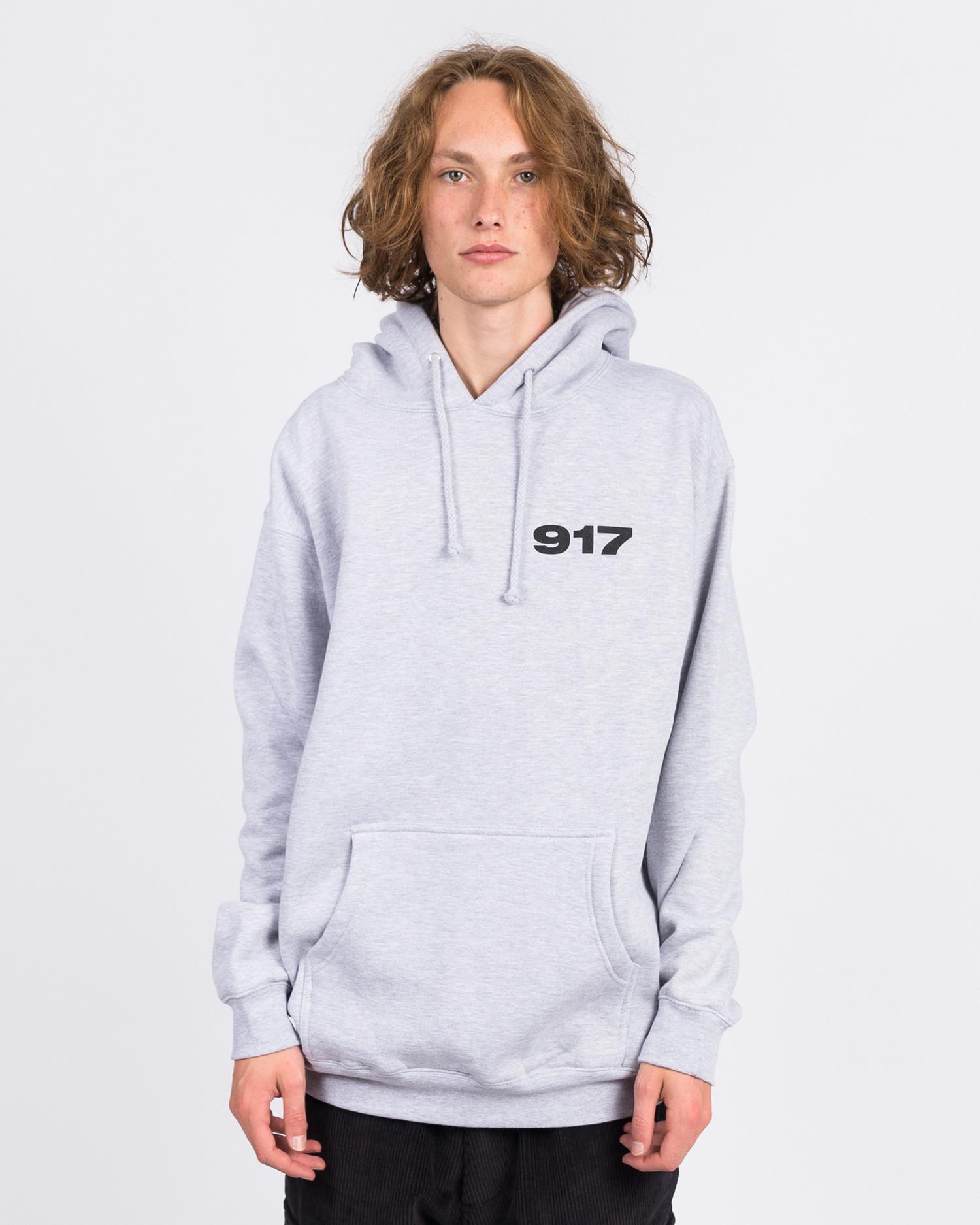 Call Me 917 Bad Baby Pullover Hood Heather Grey