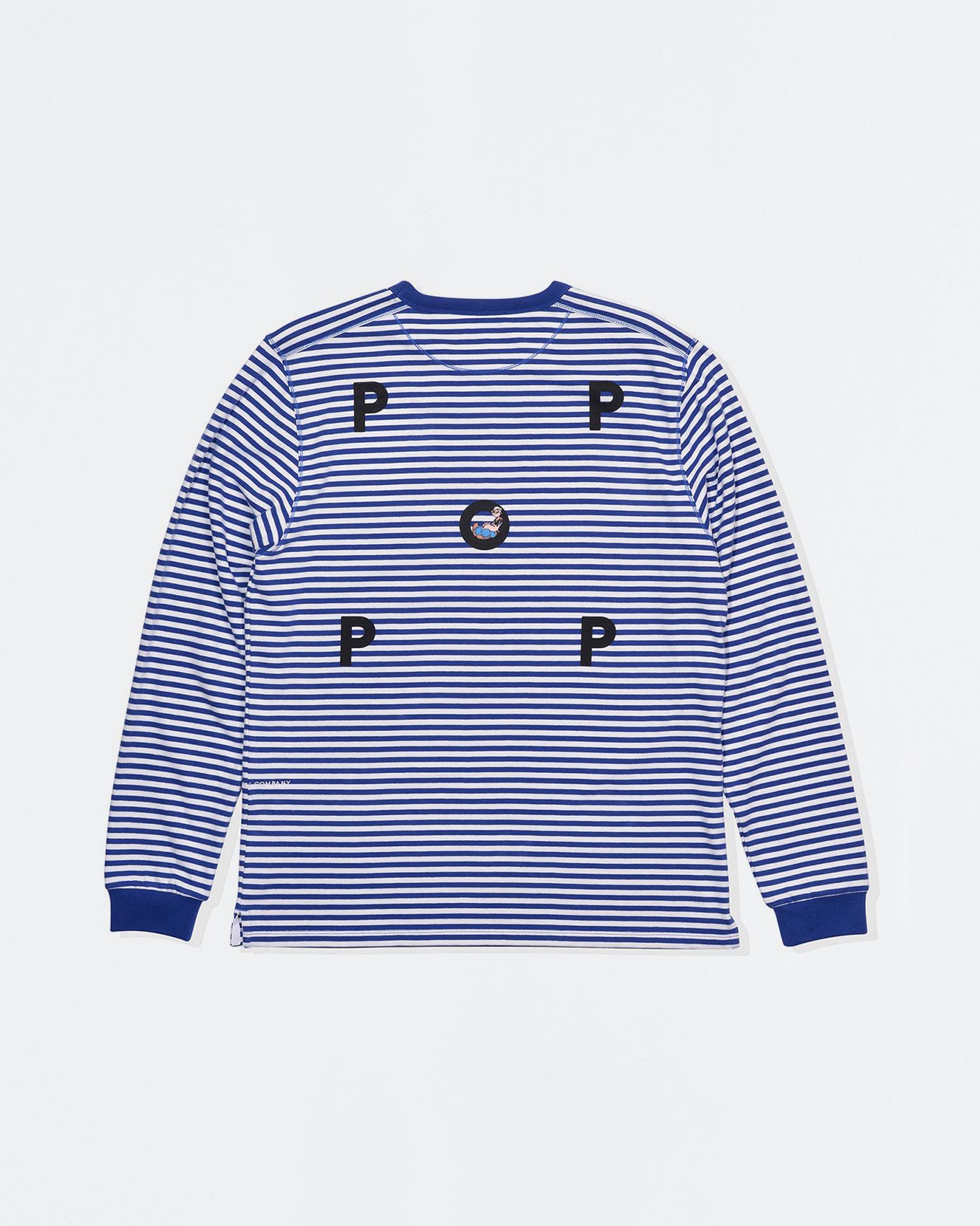 Pop Trading Co X Popeye striped longsleeve T-shirt royal/white