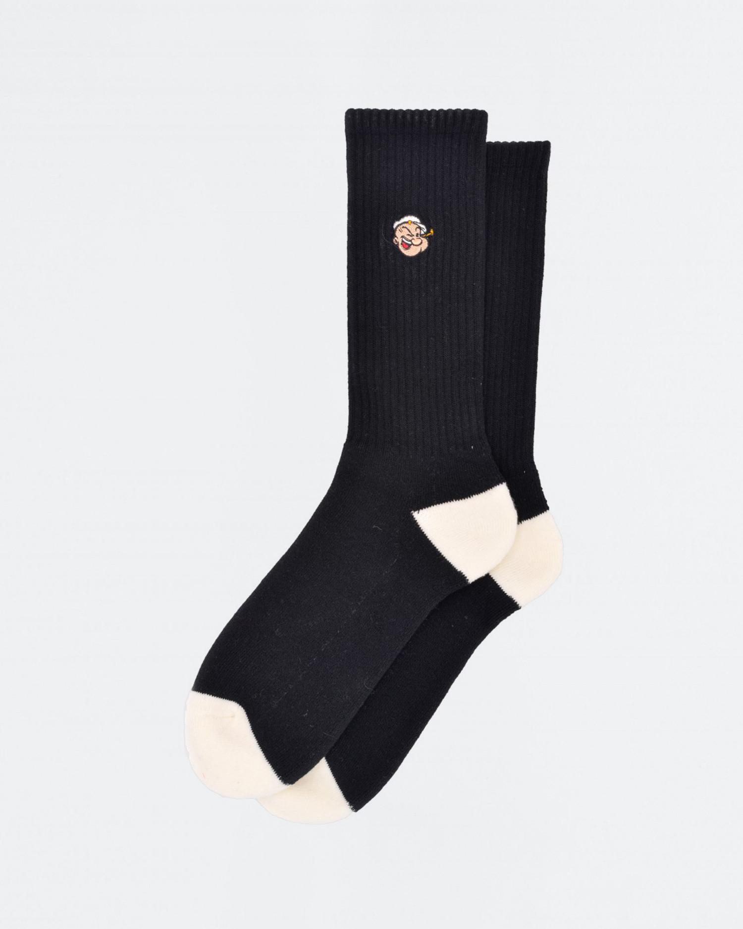 Pop Trading Co X Popeye Sport Socks Black