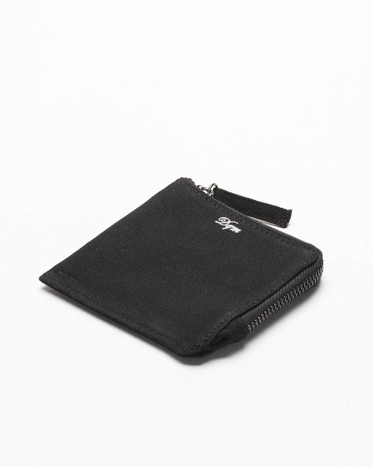 DQM Zip Coated Canvas Wallet Black