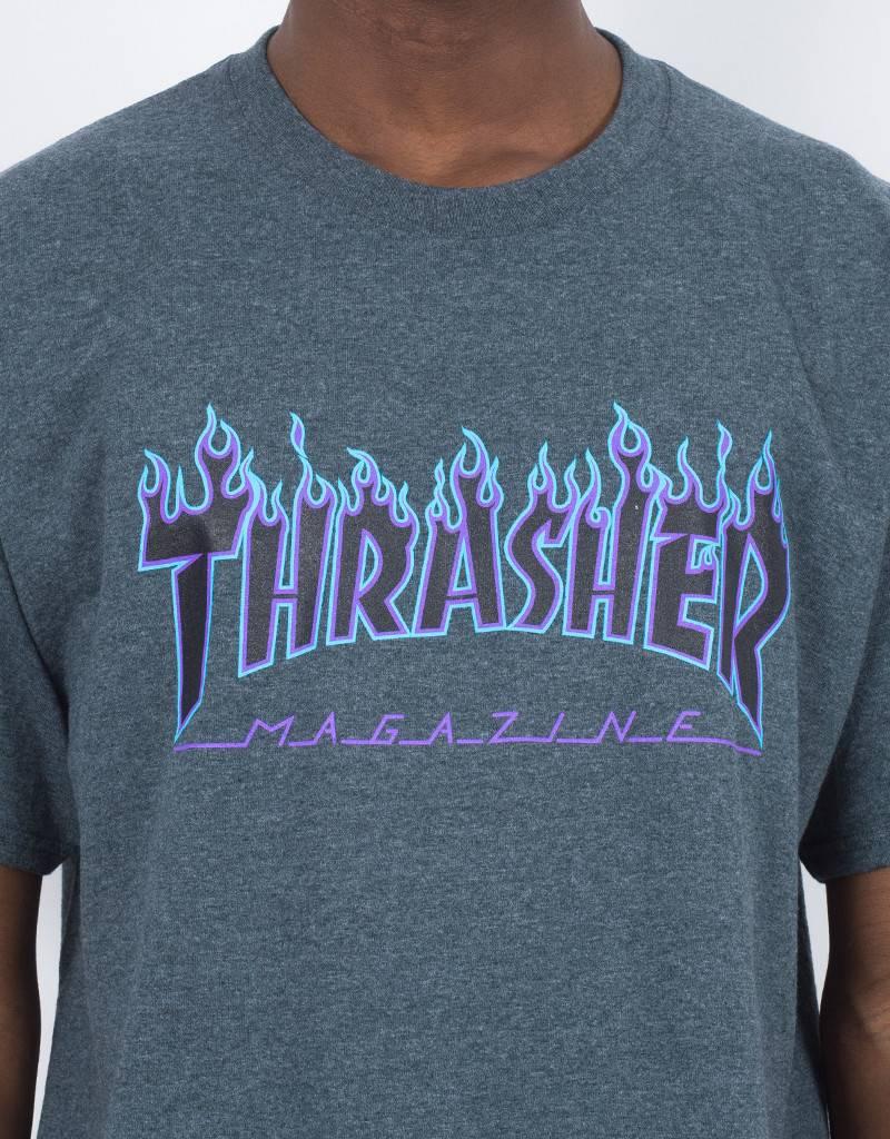 98ab87f52c3a Thrasher Thrasher Flame T-shirt Dark Heather - Lockwood Skateshop