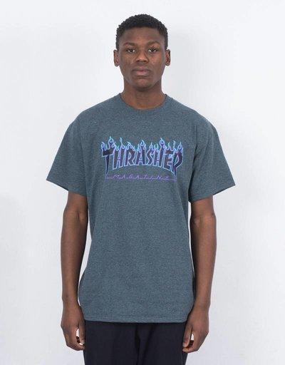 00aeb1da8498 Thrasher Flame T-shirt Dark Heather