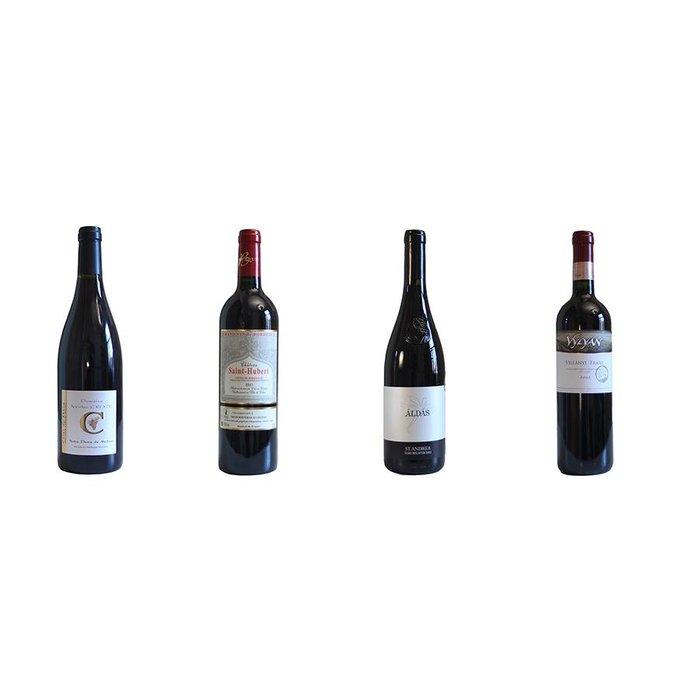 4 vins rouges à l'honneur