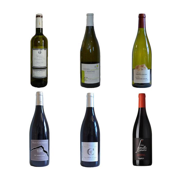 Pakket van 6 Franse wijnen