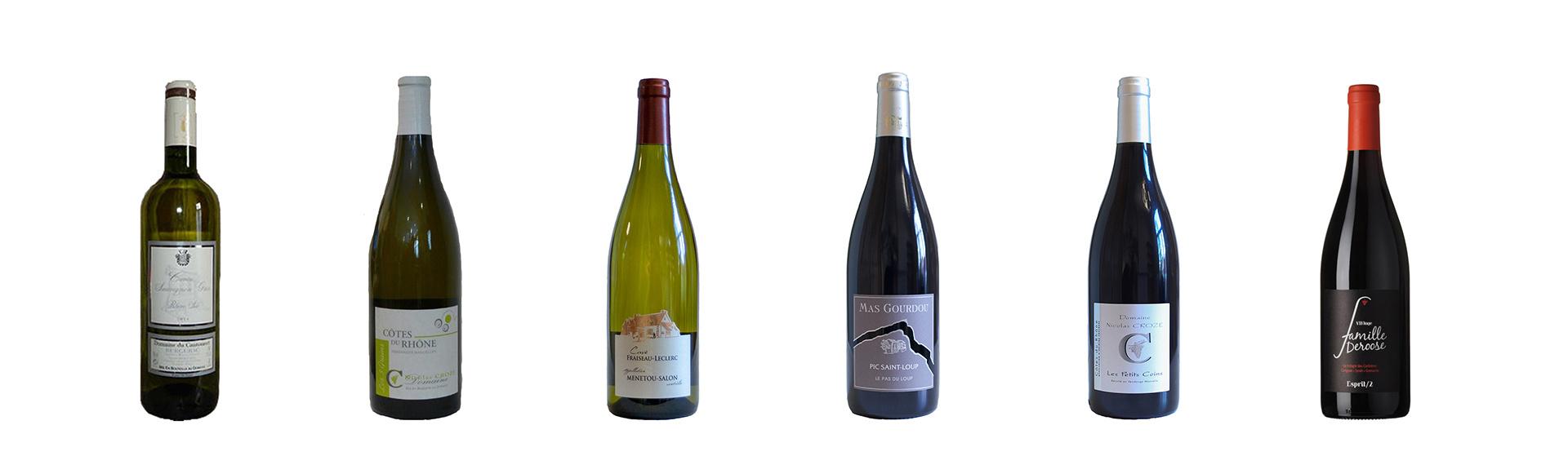 Wijnpakket van 6 Franse wijnen