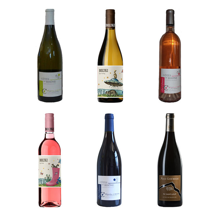 Vakantie pakket met 6 wijnen