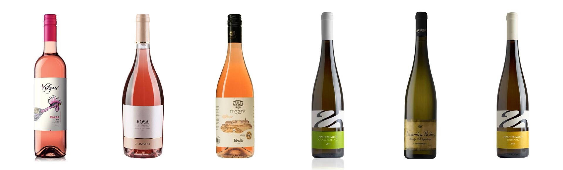 Wijnpakket met 3 rosés en 3 witte wijnen