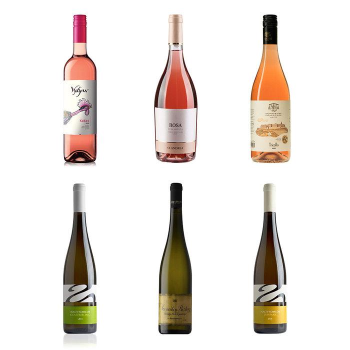 3 rosés en 3 witte wijnen