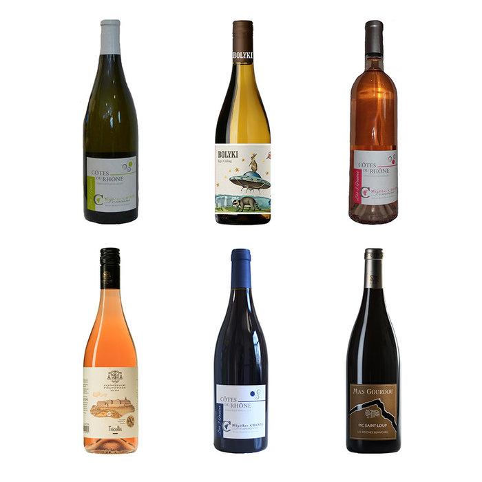 Colis avec 6 vins d'été