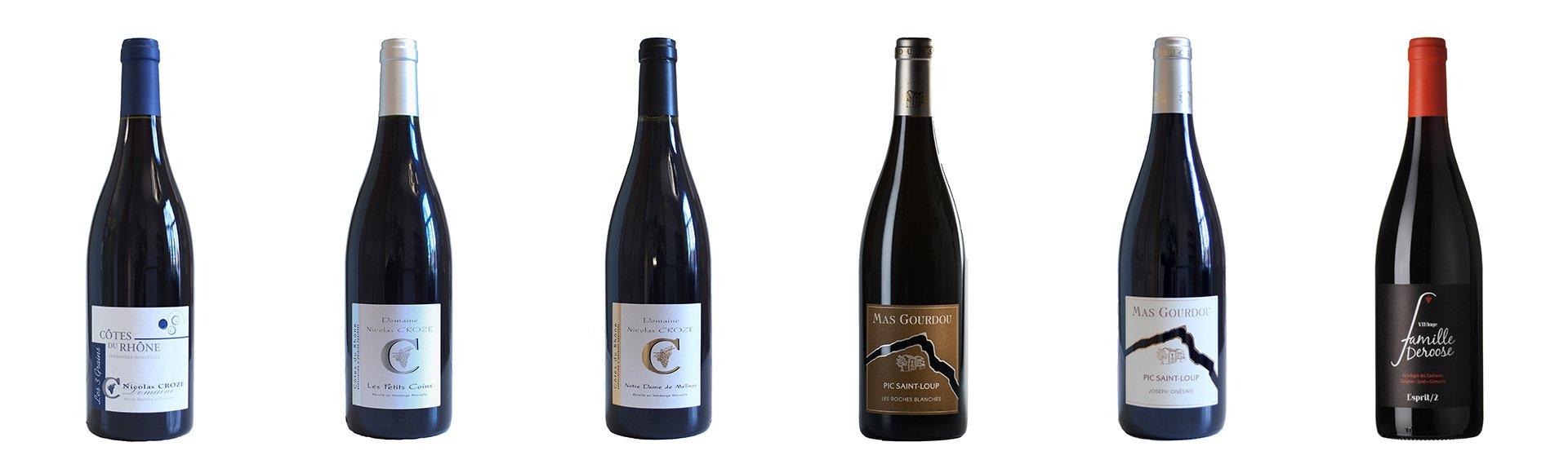 Wijnpakket met 6 Franse rode wijnen