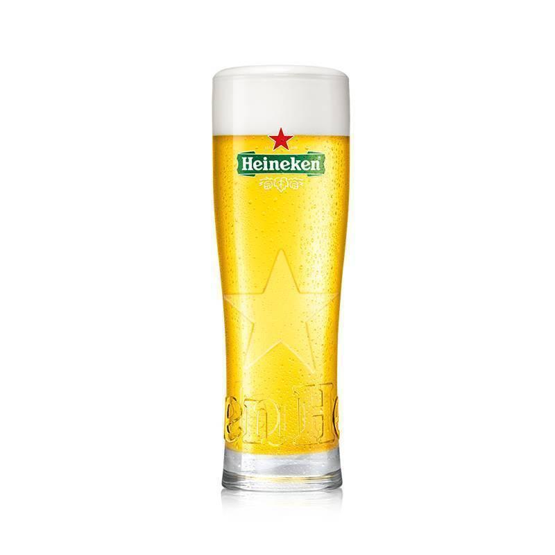 UEFA Champions League und Heineken Star Bierglas