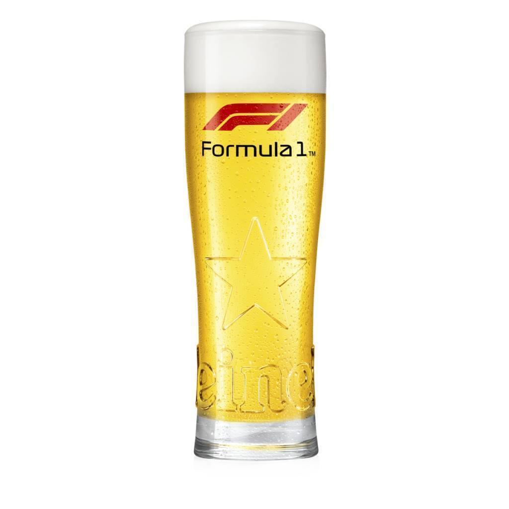 Heineken Formel 1 2018 Glas im Geschenkkarton