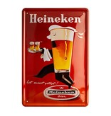 Heineken Retro metal bar sign - Waiter (30 x 20cm)