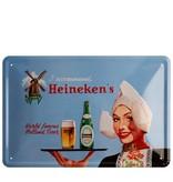 Heineken Retro metal bar sign - Dutch Farm Girl  (20 x 30cm)