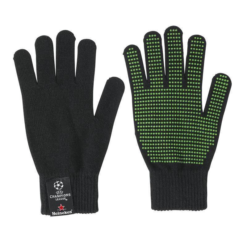 Heineken UEFA CHAMPIONS LEAGUE SCHWARZE STADION HANDSCHUHE
