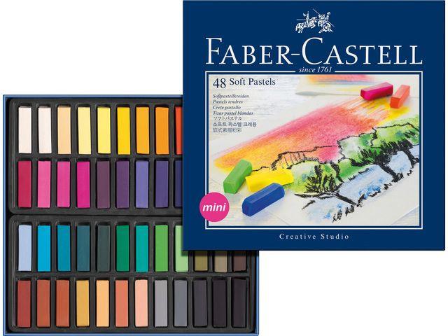 FABER-CASTELL FC128248 CREATIVE STUDIO SOFT PASTEL 48-COLOR SET