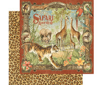 Graphic 45 Safari Adventure 12x12 Inch 25pc. (4501356)