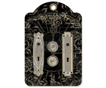Graphic 45 Shabby Chic Metal Door Plates & Knobs (4501296)