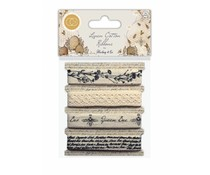 Craft Consortium Tell the Bees Linen Ribbons (CCHRBN001)