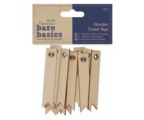 Papermania Bare Basics Wooden Eyelet Tags (12pcs) (PMA 174644)