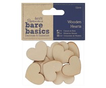 22 x Papermania Bare Basics Wooden Bobbins 3 Assorted Size Craft Embellishment