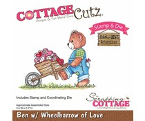 Scrapping Cottage CottageCutz Ben with Wheelbarrow of Love (CCS-023)