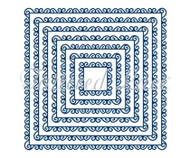 Tattered Lace Swirl Edge Squares (TLD0144)
