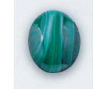 Art Clay Natuurlijke steen Malachiet Cabochon Geslepen Ovaal 10x14 mm (T-00012)