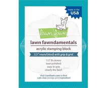 Lawn Fawn Fawndamentals - Acrylic Stamping Block 3.5 Inch Round (LF498)