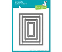 Lawn Fawn Outside In Stitched Rectangle Stackables (LF1442)