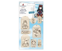 Gorjuss Colour Me Wooden Tags (8pcs) (GOR 356106)