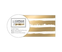 Papermania Capsule Elements Metallic Craft Tape Gold Stripe (3m) (PMA 462222)
