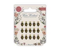 Craft Consortium Winter Woodland Acorn Charms (15 pcs) (CCMCHRM001)