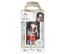 Gorjuss Collectable Mini Rubber Stamp No. 42 Summer Days (GOR 907141)