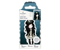 Gorjuss Collectable Mini Rubber Stamp No. 49 Piracy (GOR 907148)